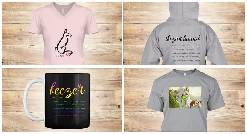 Save the dragonslayers - Ibizan hound shirts and mugs